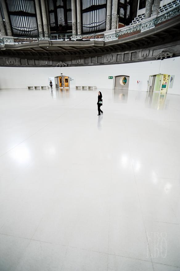 Sala oval del palacio de Montjuich, 11-05-2013